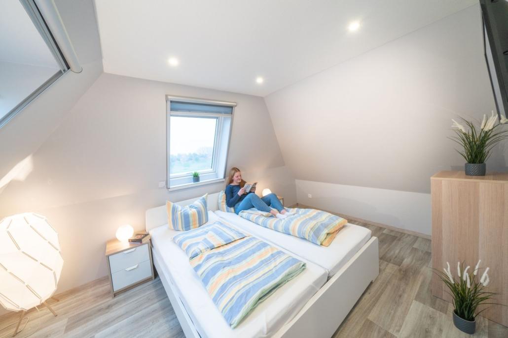 Ferienwohnung Kiebitz II Schlafzimmer