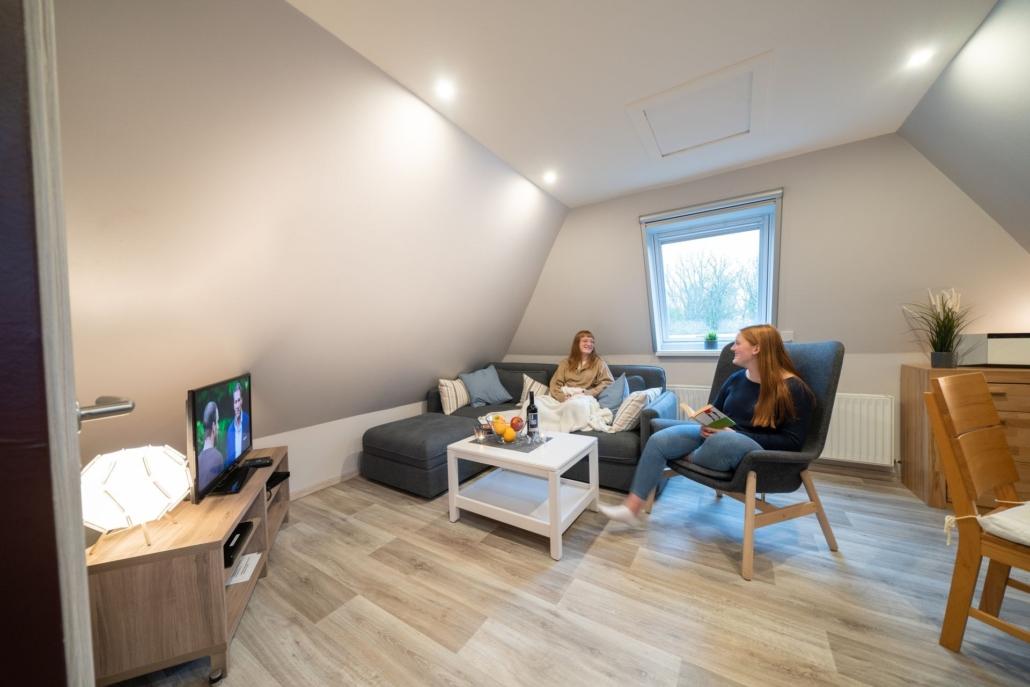 Ferienwohnung Kiebitz II Wohnzimmer